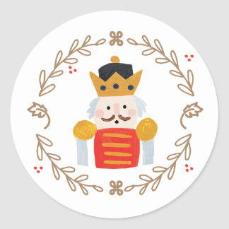 Nutcracker Classic Round Sticker