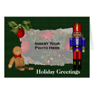 Nutcracker Cookie Christmas Holiday Photo Card