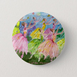 Nutcracker Dance of the Flowers 2 Inch Round Button