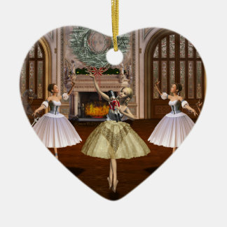 Nutcracker Dancing Ballerinas Holiday Ornament