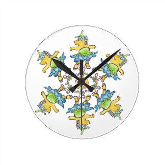 Nutcracker Dancing Hedgehogs Clock