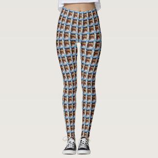 Nutcracker Face Pattern Leggings