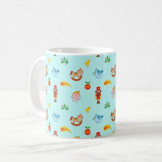 Nutcracker, horse, angel and bird Xmas pattern Coffee Mug