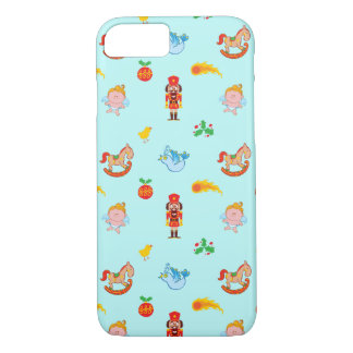 Nutcracker, horse, angel and bird Xmas pattern iPhone 8/7 Case