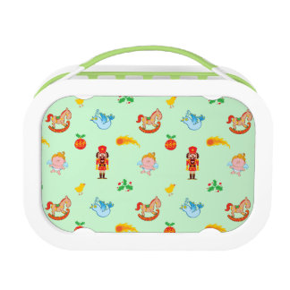 Nutcracker, horse, angel and bird Xmas pattern Lunch Box