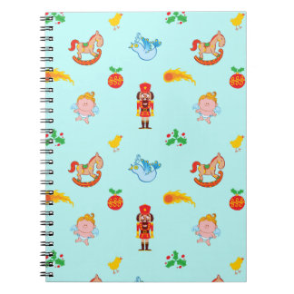 Nutcracker, horse, angel and bird Xmas pattern Notebook