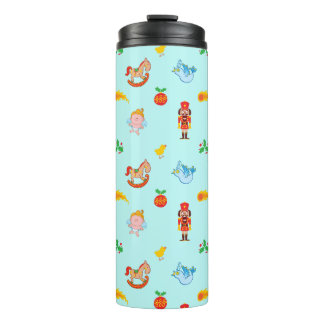 Nutcracker, horse, angel and bird Xmas pattern Thermal Tumbler