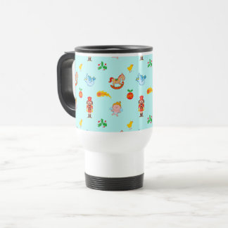 Nutcracker, horse, angel and bird Xmas pattern Travel Mug