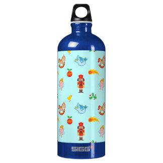 Nutcracker, horse, angel and bird Xmas pattern Water Bottle