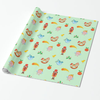 Nutcracker, horse, angel and bird Xmas pattern Wrapping Paper