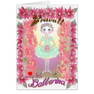 Nutcracker Little Ballerina with Bravo-339 Card