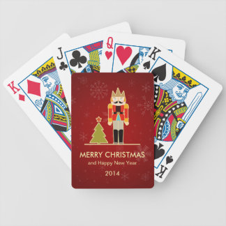 Nutcracker Merry Christmas and Happy New Year 2014 Bicycle Playing Cards