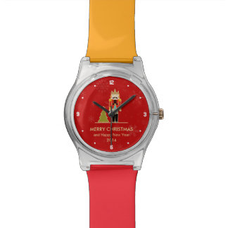 Nutcracker Merry Christmas and Happy New Year 2014 Wrist Watch