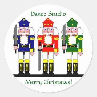Nutcracker Personalized Christmas Ballet Gift Round Sticker