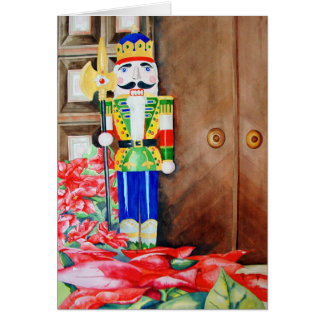 Nutcracker & Pointsettia Card