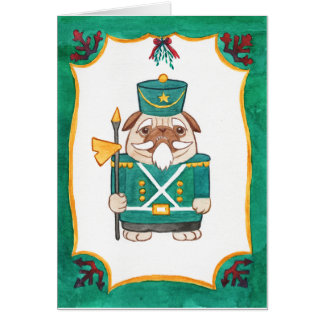 nutcracker pug green card