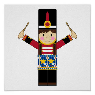 Nutcracker Soldier Playing Drums Poster