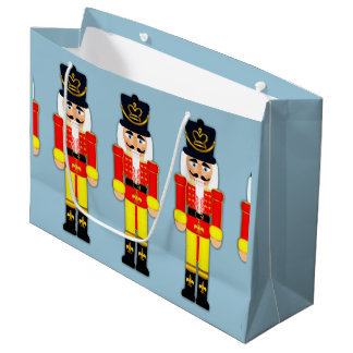 Nutcracker Solider Custom Gift Bag - Large, Glossy