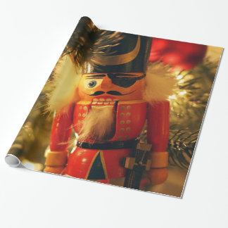 Nutcracker Solider Gift Wrapping Paper