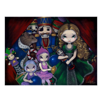 Nutcracker Suite christmas fairy ballet Art Print