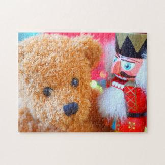 Nutcracker talks to teddy bear jigsaw puzzle