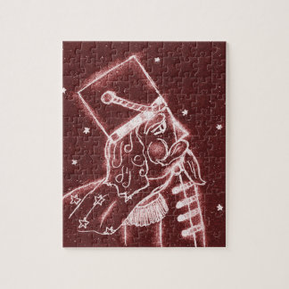 Nutcracker Toy Solder in Cranberry Red Puzzle