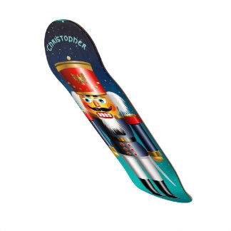 Nutcracker Toy Soldier In Blue Uniform Skateboard Decks