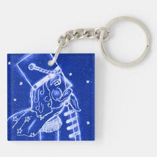 NUTCRACKER TOY SOLDIER in Bright Blue Keychain