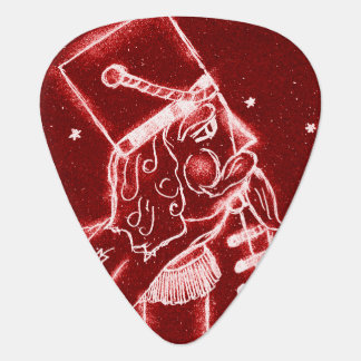 Nutcracker Toy Soldier in Bright Red Guitar Pick