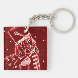 NUTCRACKER TOY SOLDIER in Bright Red Keychain