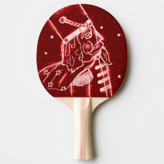 Nutcracker Toy Soldier in Bright Red Ping Pong Paddle