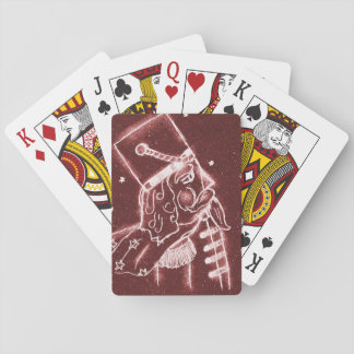 NUTCRACKER TOY SOLDIER in Cranberry Red Poker Deck