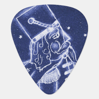 Nutcracker Toy Soldier in Light Blue Guitar Pick