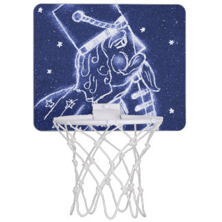 Nutcracker Toy Soldier in Light Blue Mini Basketball Hoop