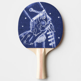 Nutcracker Toy Soldier in Light Blue Ping Pong Paddle