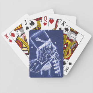 Nutcracker Toy Soldier in Light Blue Poker Deck