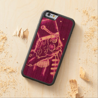 Nutcracker Toy Soldier in Magenta Carved Cherry iPhone 6 Bumper Case