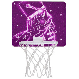 Nutcracker Toy Soldier in Magenta Mini Basketball Hoop