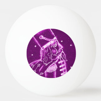 Nutcracker Toy Soldier in Magenta Ping-Pong Ball