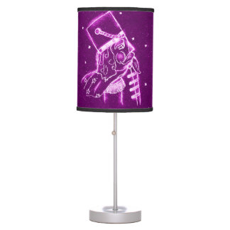 Nutcracker Toy Soldier in Magenta Table Lamp