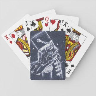 Nutcracker Toy Soldier in Medium Blue Poker Deck