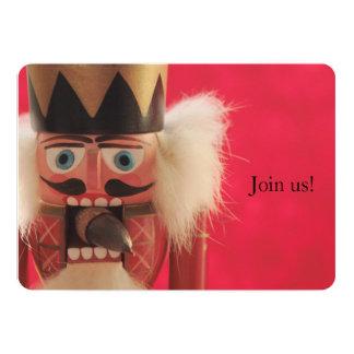 "Nutcracker with acorn Christmas party 5"" X 7"" Invitation Card"