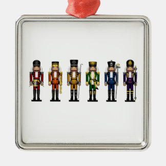 Nutcrackers in Rainbow Colors Metal Ornament