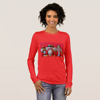 Nutcrackers in red uniforms long sleeve T-Shirt
