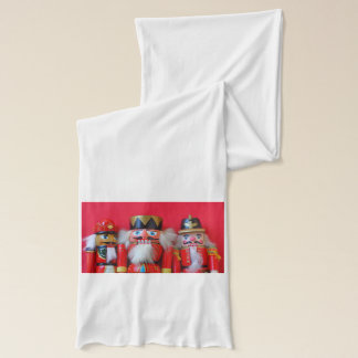 Nutcrackers in red uniforms scarf