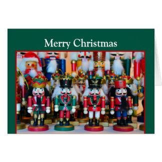 Nutcrackers Merry Christmas Greeting Card