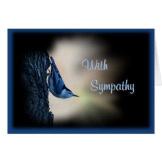 Nuthatch Bird Sympathy or any occasion Card