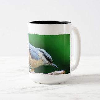 Nuthatch Nuthatch - Photography Jean Louis Glineur Two-Tone Coffee Mug