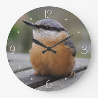 Nuthatch photo large clock