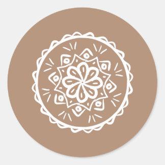 Nutmeg Classic Round Sticker